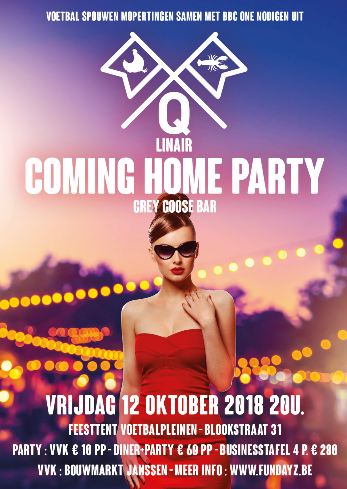 Q-linair Scharrels en Scharen met 'Qlinair coming home'- party